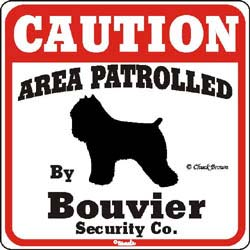 Bouvier des Flandres Caution Sign