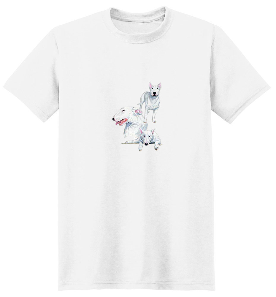 Bull Terrier T-Shirt - Best Friends Portrait
