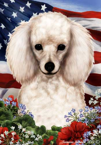 Poodle House Flag White
