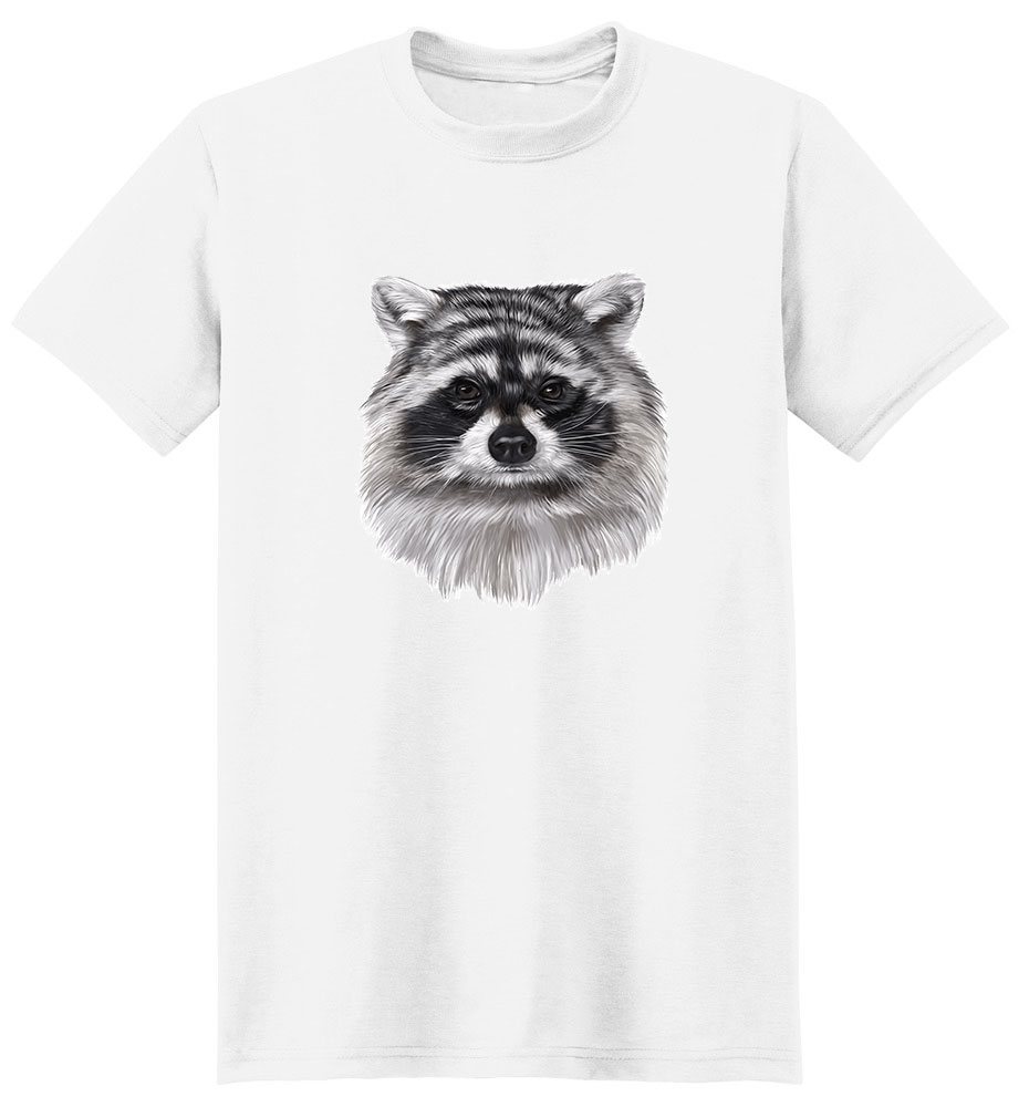 Raccoon T Shirt - Impressive Portrait
