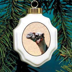 Camel Christmas Ornament Porcelain