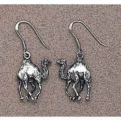 Camel Earrings Sterling Silver