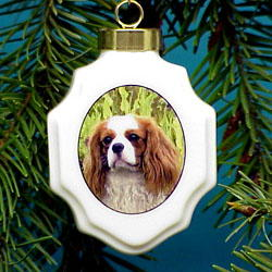 Cavalier King Charles Christmas Ornament Porcelain