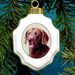 Chesapeake Bay Retriever Christmas Ornament Porcelain