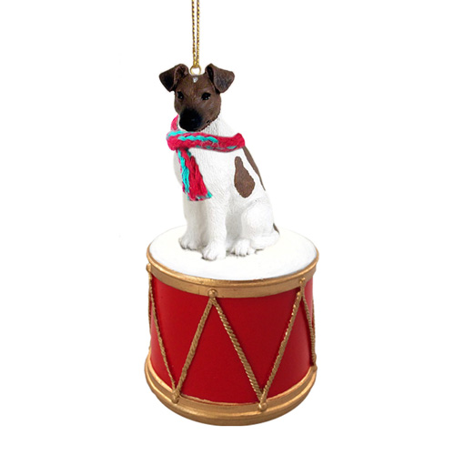 Little Drummer Smooth Fox Terrier Christmas Ornament