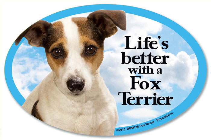 Smooth Fox Terrier Car Magnet - Life's Better
