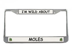 Mole License Plate Frame