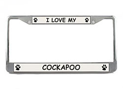 Cockapoo License Plate Frame