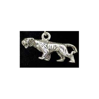 Tiger Sterling Silver Charm
