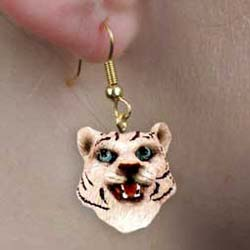 White Tiger Authentic Earrings