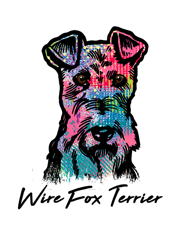 Wire Fox Terrier T Shirt Colorful Abstract