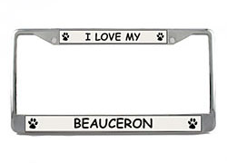 Beauceron License Plate Frame