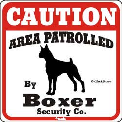 Boxer Caution Sign