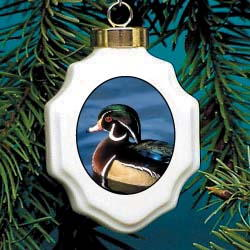 Wood Duck Christmas Ornament Porcelain