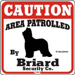 Briard Caution Sign