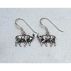 Goat Earrings Sterling Silver
