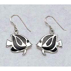 Fish Earrings Sterling Silver