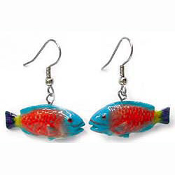 Parrot Fish Earrings True to Life