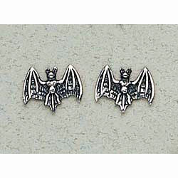 Bat Earrings Sterling Silver