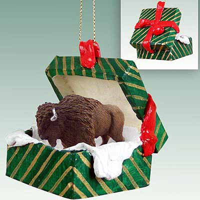 Buffalo Gift Box Christmas Ornament