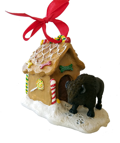 Buffalo Gingerbread House Christmas Ornament