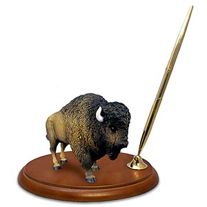 Buffalo Pen Holder