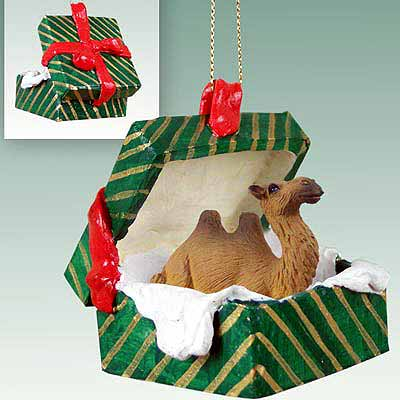 Camel Gift Box Christmas Ornament Bactrian