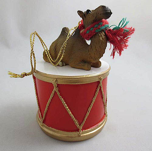 Little Drummer Camel Christmas Ornament Bactrian