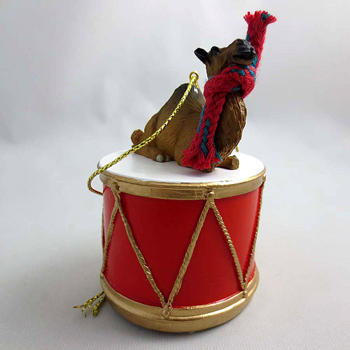 Little Drummer Dromedary Camel Christmas Ornament