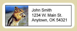 Chipmunk Address Labels