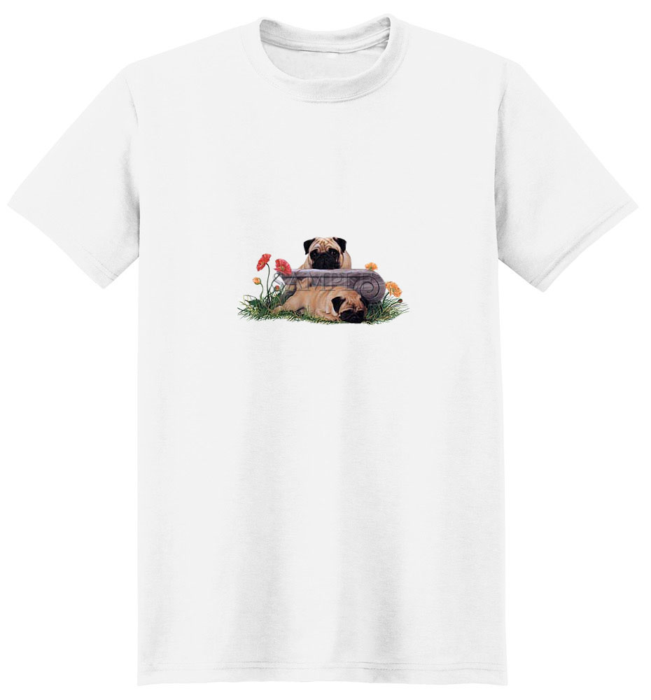 Pug T-Shirt - Black Masked