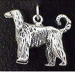 Afghan Hound Sterling Silver Charm