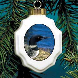 Loon Christmas Ornament Porcelain