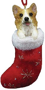 Corgi Christmas Stocking Ornament