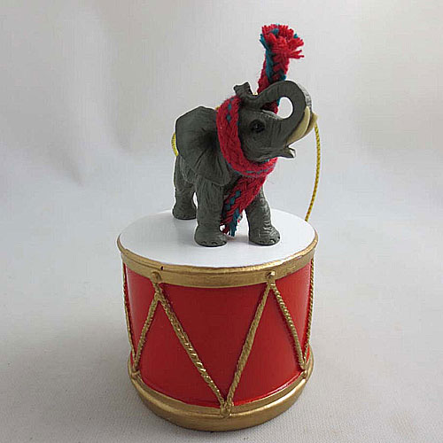 Little Drummer Elephant Christmas Ornament