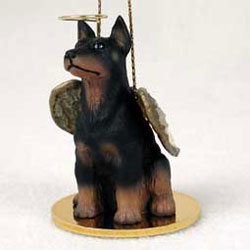 Doberman Pinscher Christmas Ornament Angel