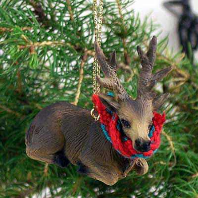 Elk Tiny One Christmas Ornament Bull