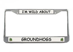 Groundhog License Plate Frame