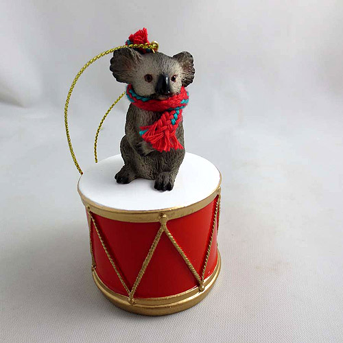 Little Drummer Koala Christmas Ornament