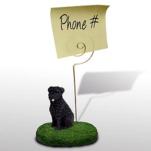 Bouvier des Flandres Note Holder (Uncropped)