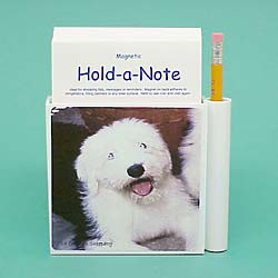 Old English Sheepdog Hold-a-Note