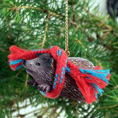 Hedgehog Tiny One Christmas Ornament