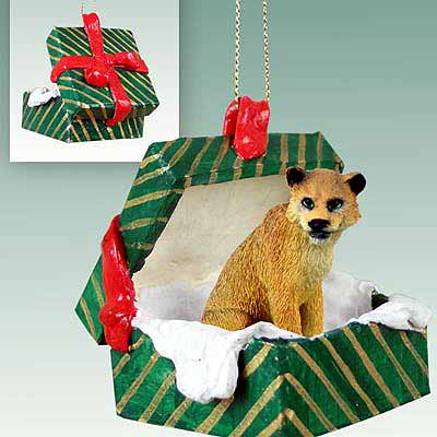 Lioness Gift Box Christmas Ornament