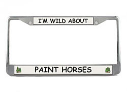 Paint Horse License Plate Frame