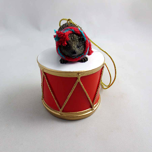 Little Drummer Hedgehog Christmas Ornament
