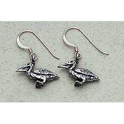 Pelican Earrings Sterling Silver