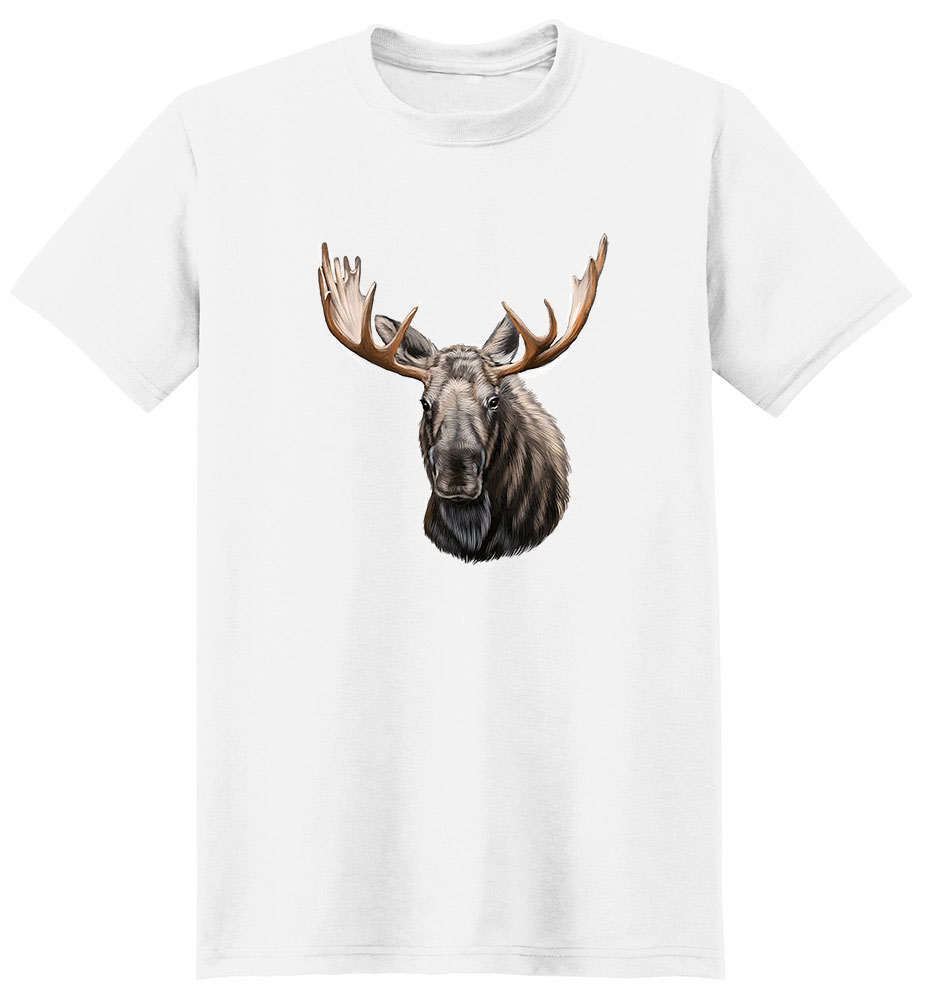 Moose T Shirt - Impressive Portrait
