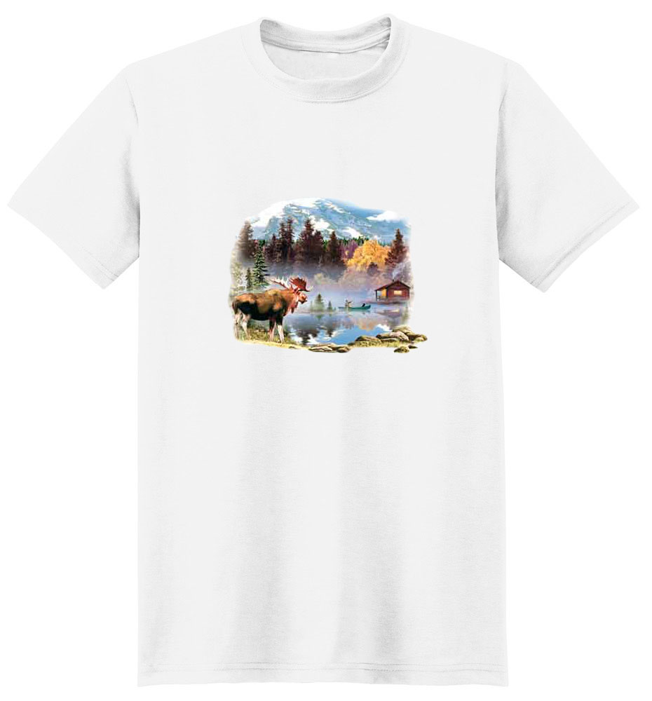 Moose T-Shirt - Colorfully Depicted