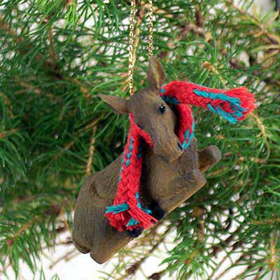Moose Tiny One Christmas Ornament Cow