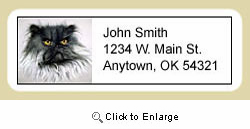 Persian Cat Address Labels